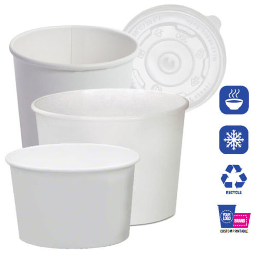 doublepoly hot cold paper containers