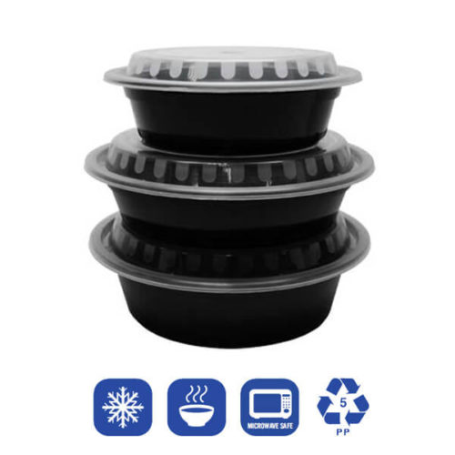 PP Injection-Molded Round Food Containers With Lids